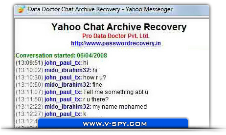 Recovery chat log How to